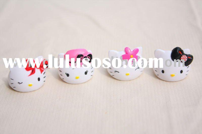 Plastic hello kitty Rings for children