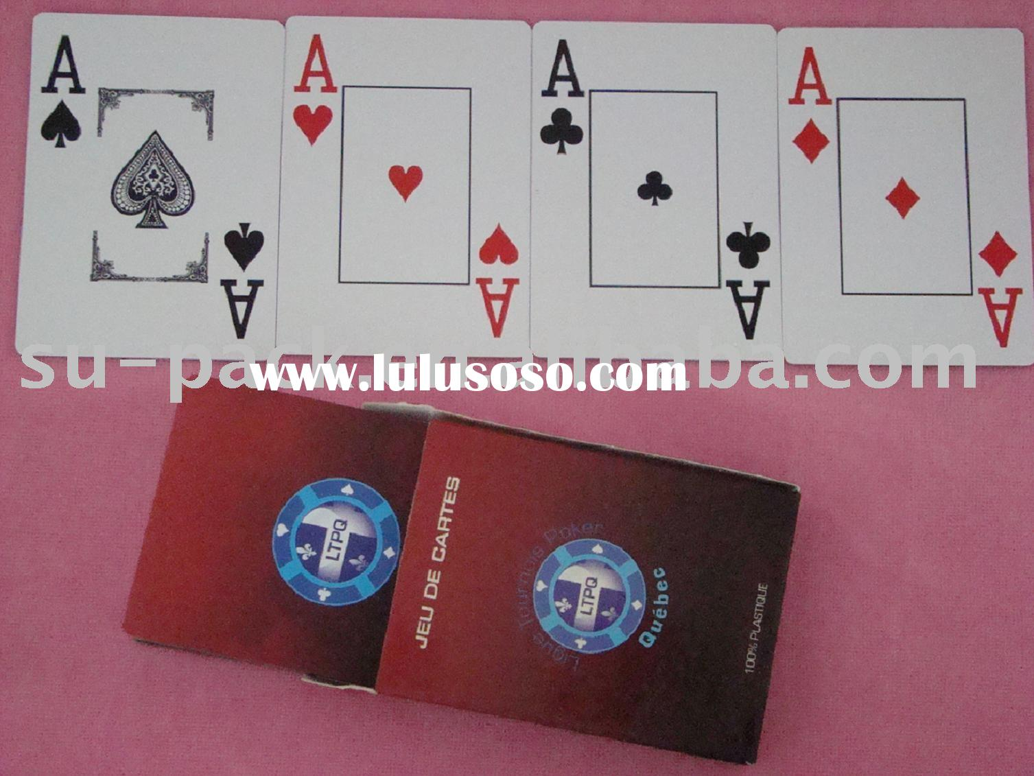 Plastic playing card/casino playing card/gambling poker/pvc playing card
