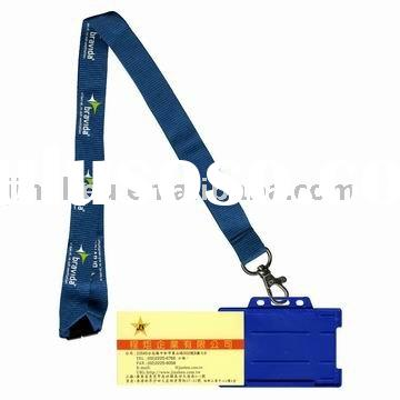 Polyester landyard with badge holder, (Printed Lanyard)