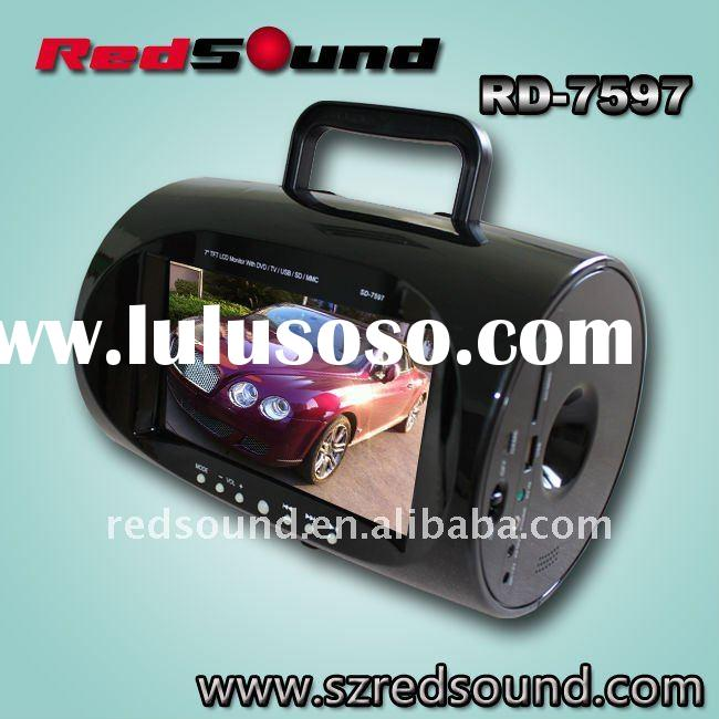 RD-7597 7.5 inch 3d portable dvd player with tv tuner and radio