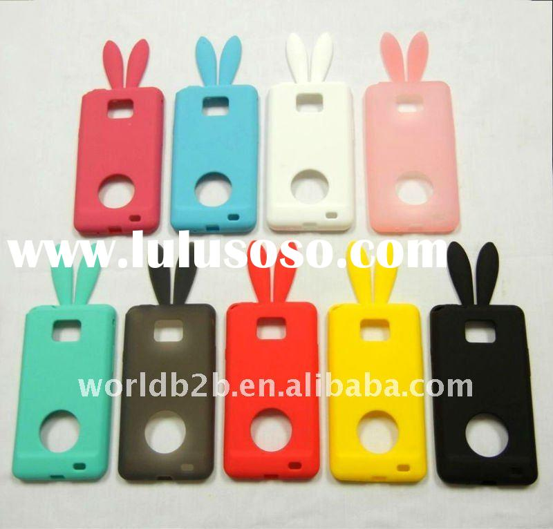 Soft Rabbit Bunny Ears Silicone Case for Samsung Galaxy S2 (i9100