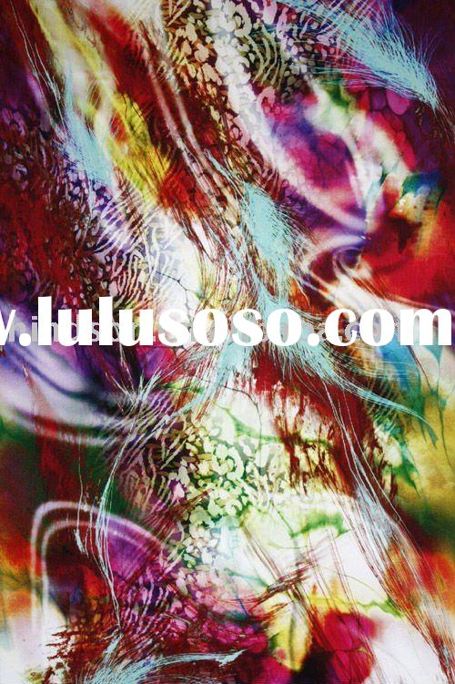 Textile Digital Printing for silk/cotton fabric D-07
