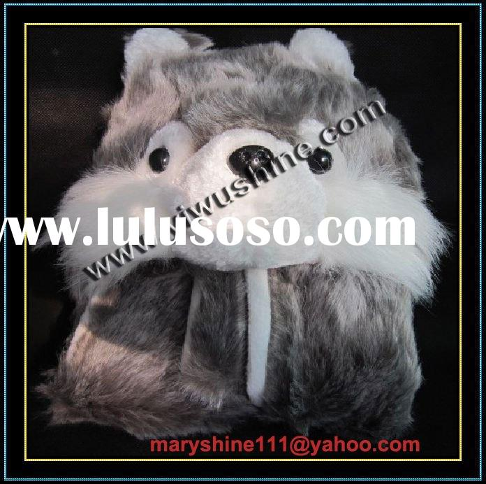 Wolf Hat Scarf and Gloves for Party