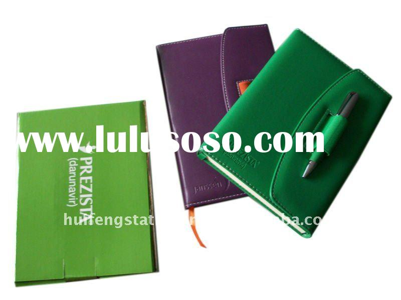 a4 a5 a6 thermo PU leather cover 2012 agenda diary with pen