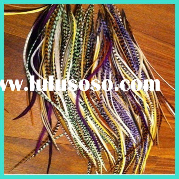 best selling rooster saddle feathers wholesale hair extensions