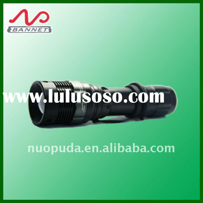 cree adjustable focus flashlight aluminium material, rechargeable led torch