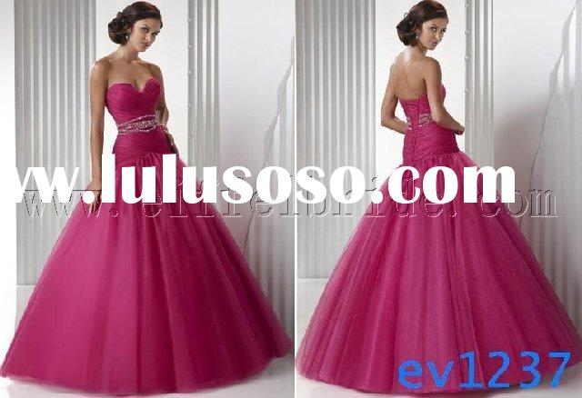 ev1237 prom evening dress/pink quinceanera dress