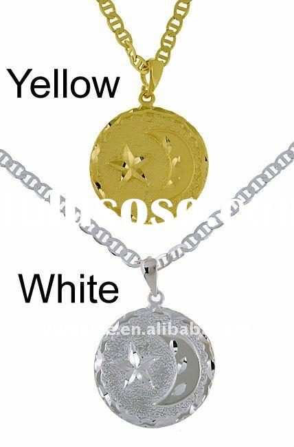 fashion alloy gold and silver plated imprint pentagram Accessories pendants necklace,alloy necklace