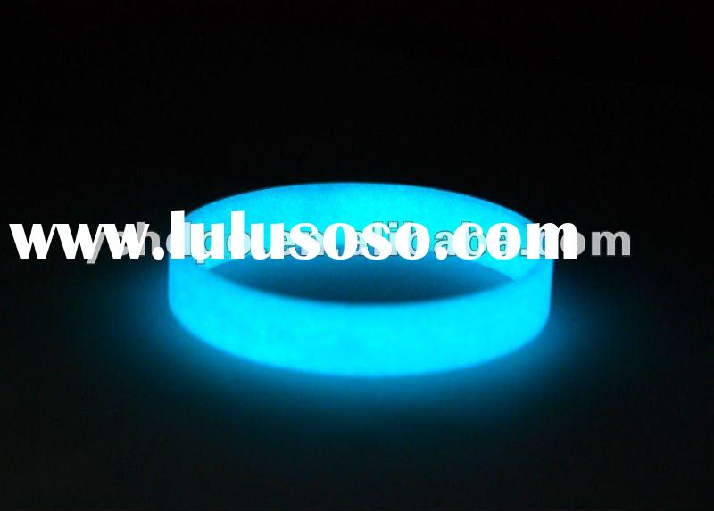 glow in the dark silicone wristband for kids