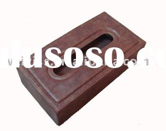 leather paper holder/leather napkin box /leather tissue box