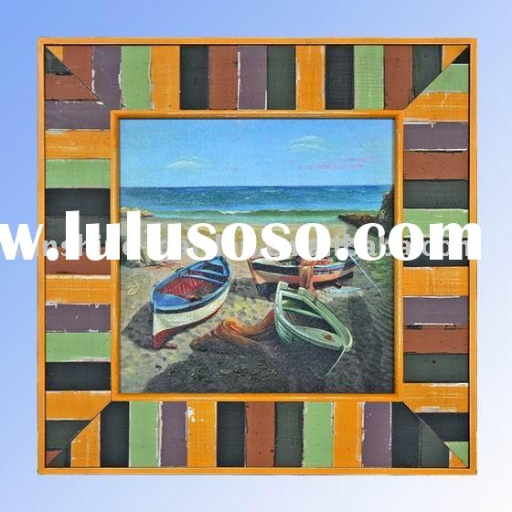 ocean style wooden wall picture frame