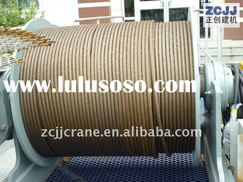 tower crane winch drum wire rope,(12mm/13mm/14mm/16mm/18mm/20mm/22mm/....)