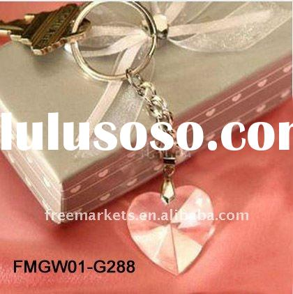 wedding favors,wedding favors & gifts, crystal gift, heartshape key chain, for your sepecial wed