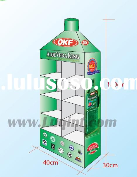 wine display shelf,sale promotion display,display stand,cardboard display,corrugated display, paper