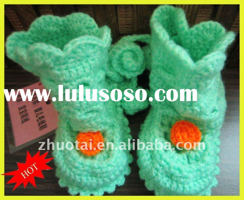 wool Hand Knitting Baby Shoes/ baby's product