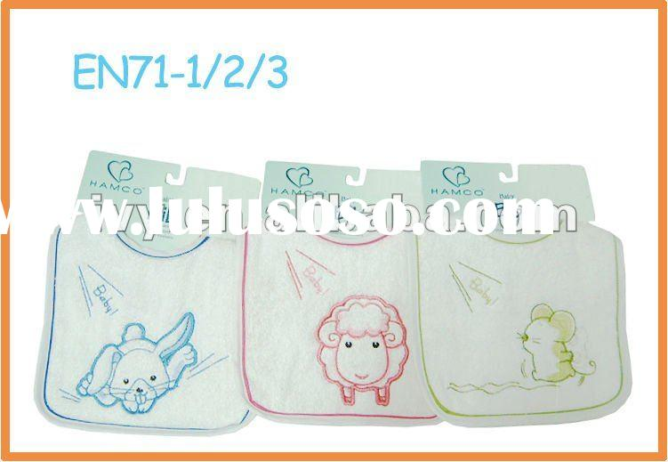 100%Cotton Terry Embroidery Baby Bib