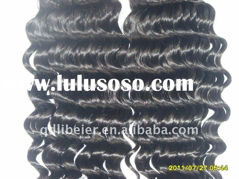 100% brazillian hair extention top quality deep wave with best service