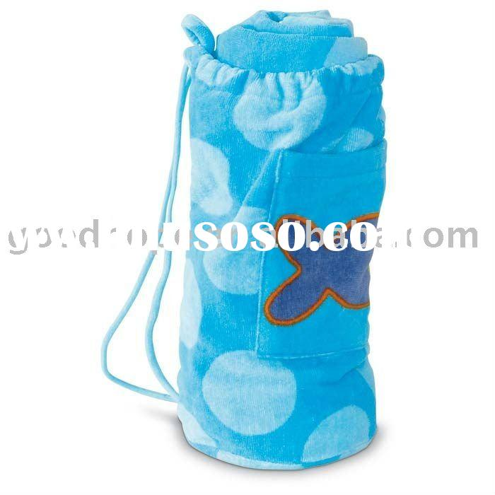 100% cotton Beach Towel With Bag