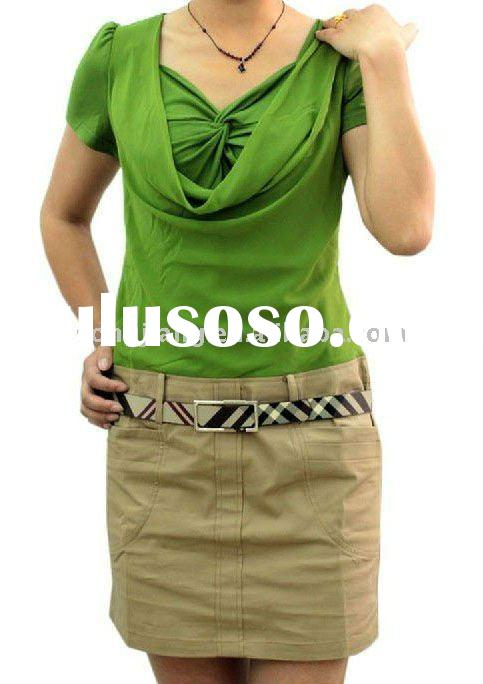 100% cotton designer green skirt and blouses for women