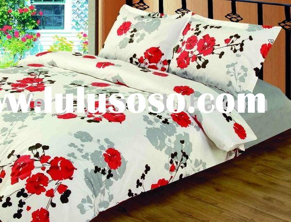 100%cotton printed bed sheet set