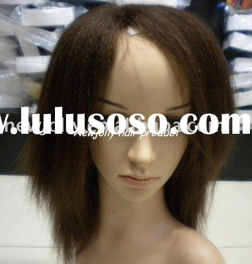 100% remy human hair, hair yaki lace wig in high density, good quality