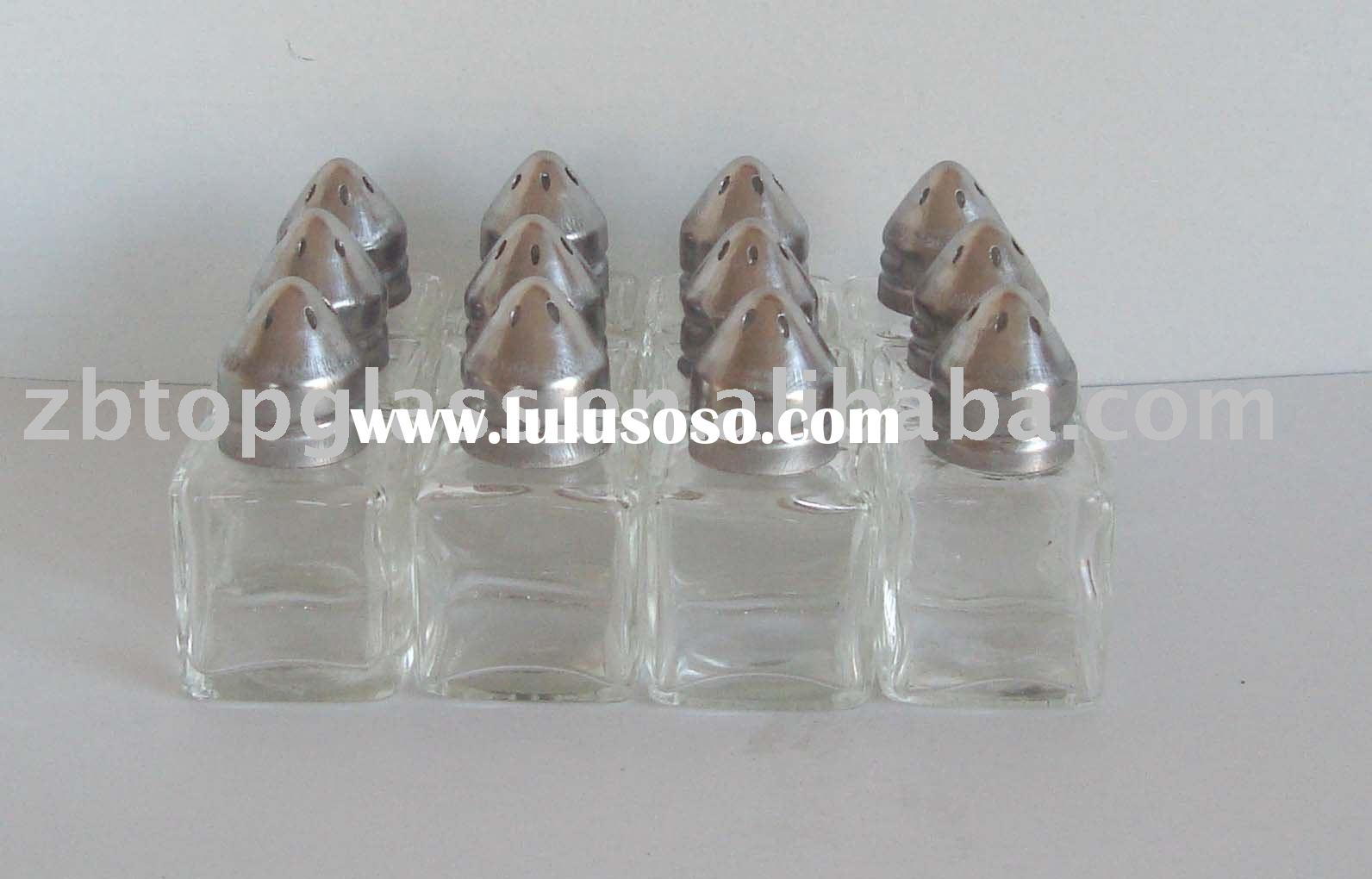 10ml mini clear glass salt and pepper shaker