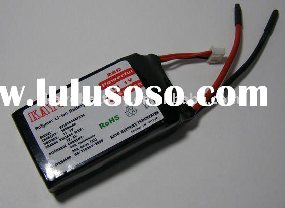 11.1v 2050mah rechargeable lithium ion polymer battery pack