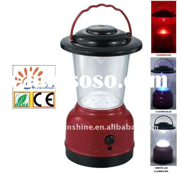12 White LED Hurricane Lantern with color changing signal light