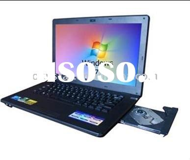 14.1 inch Intel Atom Dual-core 160GB HDD 1GB memory laptop computer
