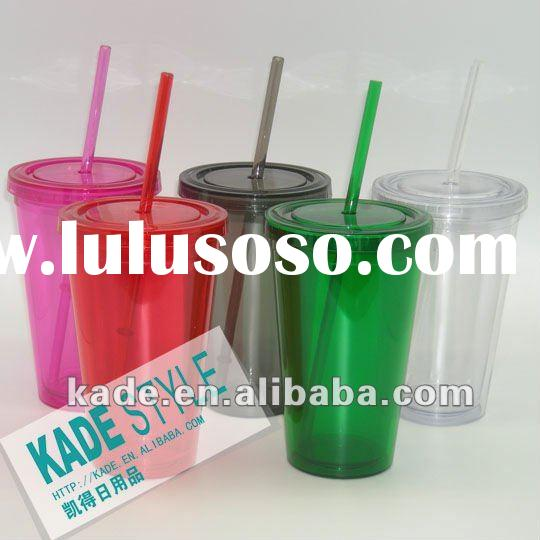 16oz double wall plastic tumblers lids and straws