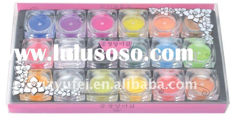 18 different colors nail art carving powder/acrylic power for nail tips