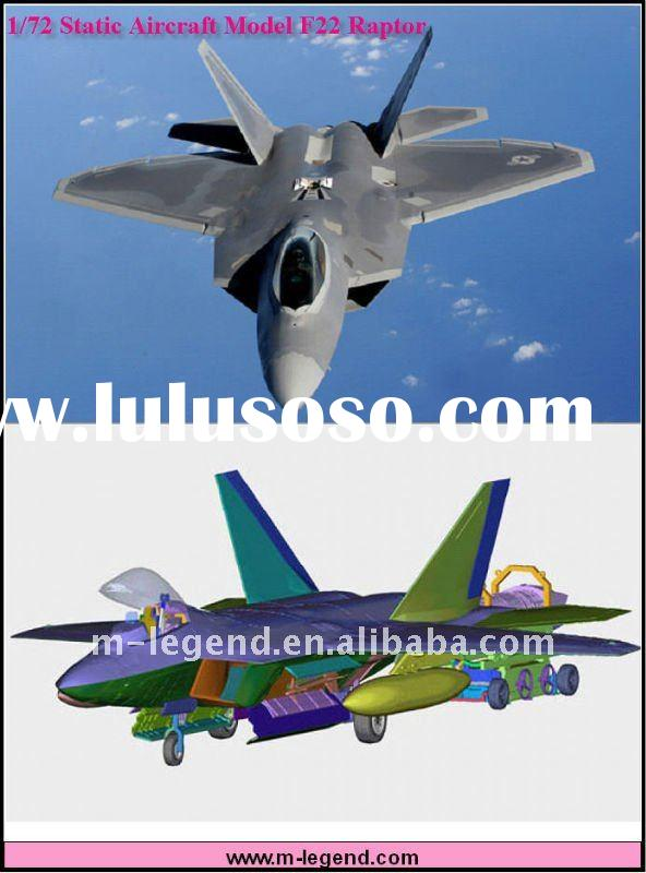1/72 static F22 model airplane kits