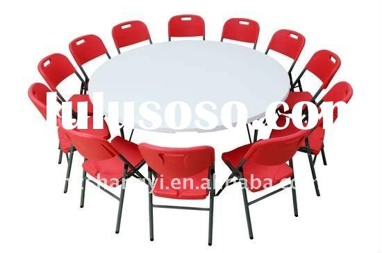 1.83m white plastic outdoor round folding tables