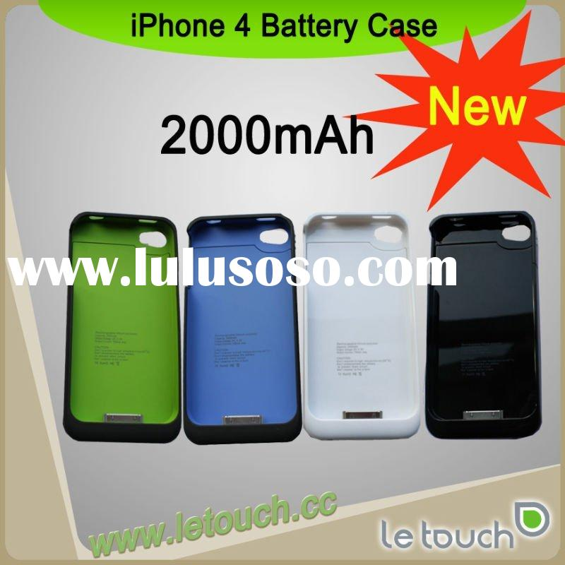 2000mAh for Apple iPhone 4 battery case