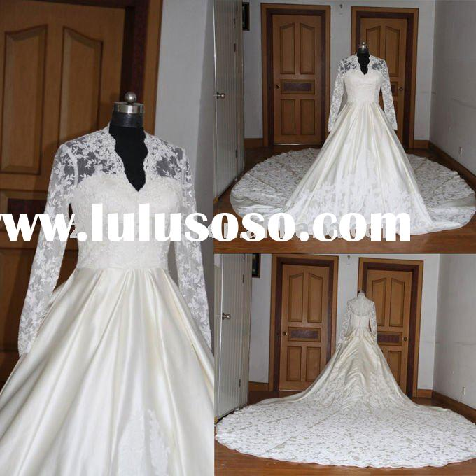 2011 New arrival H-2485 Princess Kate's royal wedding dress