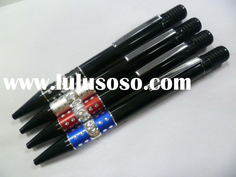 2011 New style hot product silver pole Promotional plastic ballpoint pen with metal clip