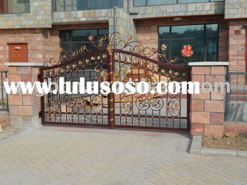 2011 Top-selling modern wrought iron gate design for house,park,garden