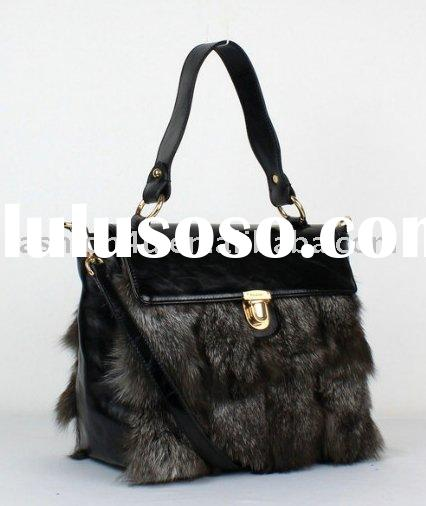 2011 Wholesale Ladies Fashion Fox Fur Handbags Purse