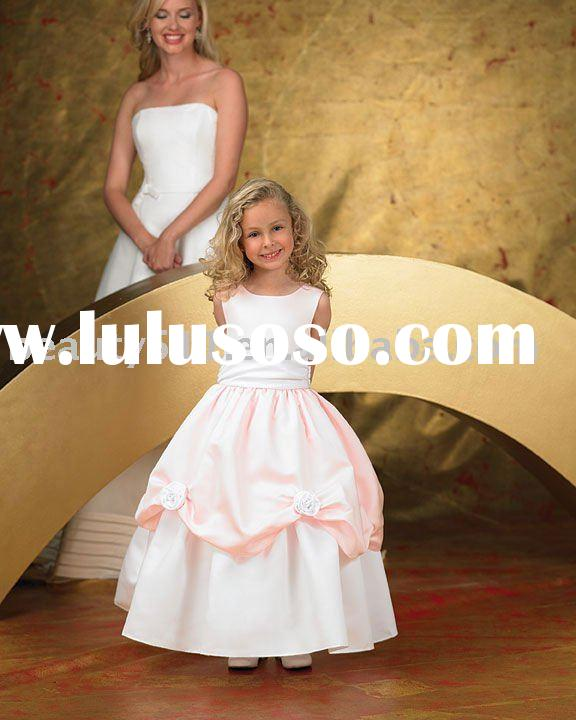 2011 latest style best sell unique design ball gown kids dress