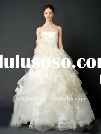 2011new hot sale ivory lace stock bridal gown arab designer wedding dresses