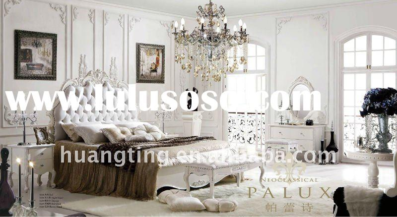 2011white palace royal furniture /elegant king size bedroom sets/high end solid wood bedroom sets/Ne