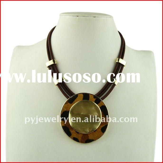 2012 Fashion Handmade Accessories,Leather Necklaces,Spring Women jewellery