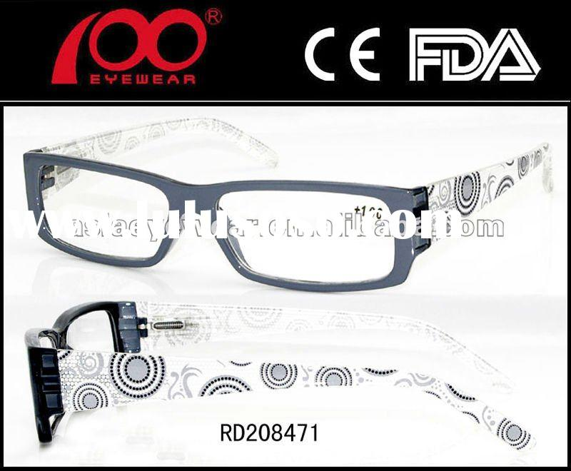 2012 Fashion reading glasses with case,Newest reading glasses