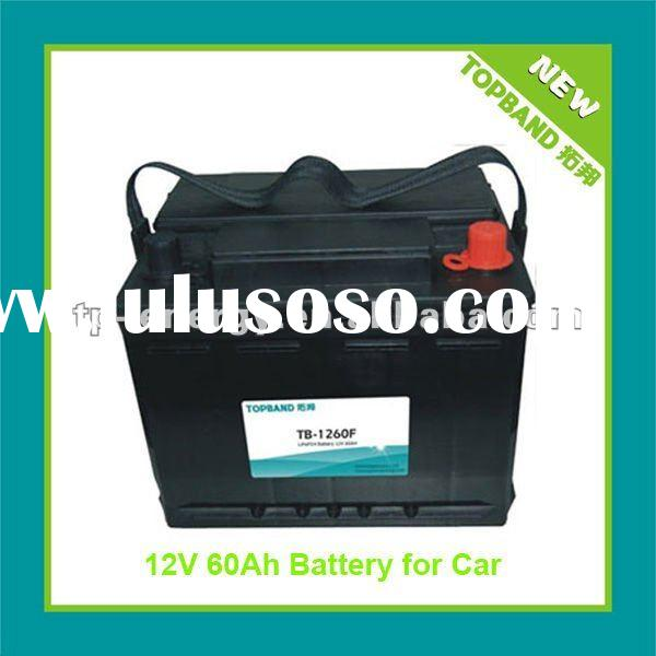 2012 New Arrival 12V 60Ah LiFePO4 Battery Pack for Car Starter with BMS+Case