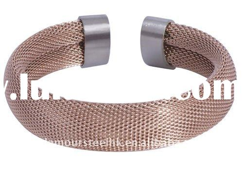 2012 New Arrival Stainless steel Bangle with Mesh stainless steel fashion jewelry & accessories