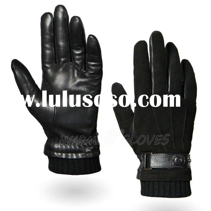 2012 New Men's fashion Leather hand gloves
