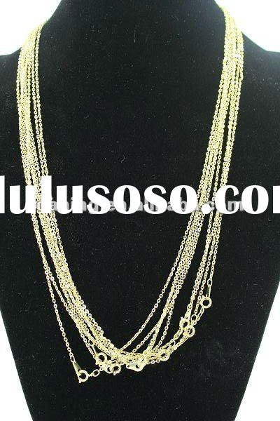 2012 New arrival style necklace ,fashion necklace for women ,costume jewelry golden necklace wholesa