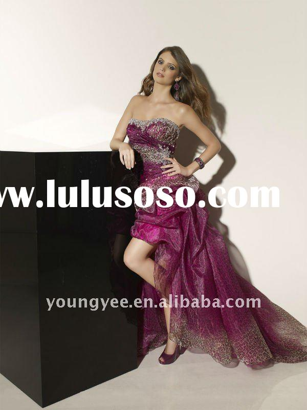 2012 New designer front short and back long zuhair murad dresses evening