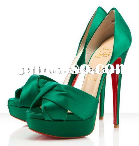 2012 New style peep toe pumps shoes,patent leather dress shoes CL248