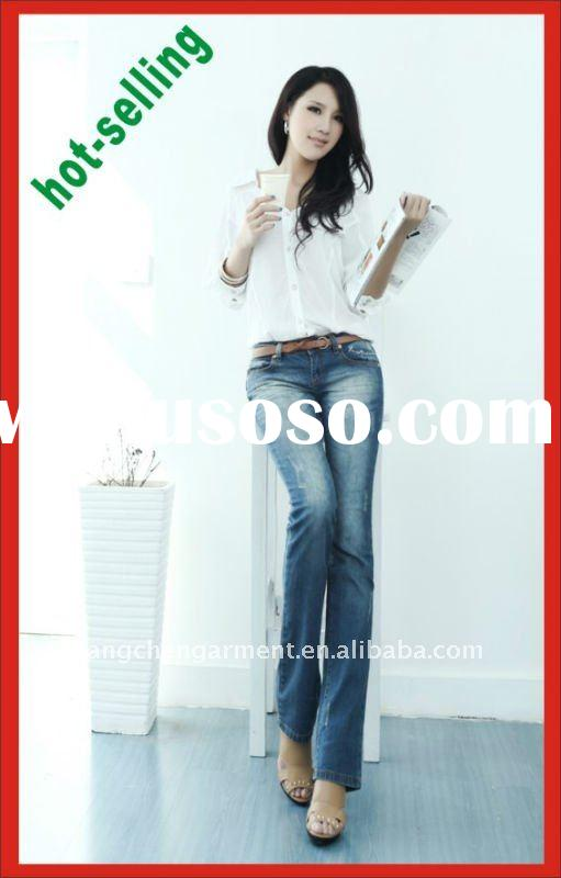 2012 Spring&Autumn fashion blue jeans wear for women